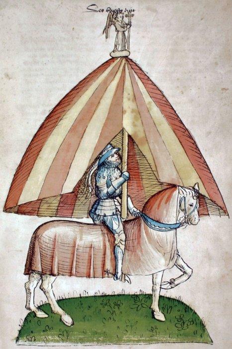 «Папская шляпа» из рукописи-хроники Ульриха из Рихенталя